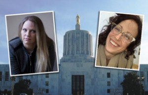 Brenda Tracy and Jenny Wendt Ewing (image credit: Oregonian)