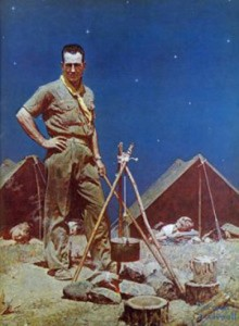 """The Scoutmaster"" by Norman Rockwell (image credit: Wikipedia)"